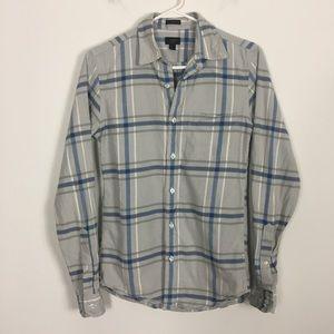 J. Crew Oxford Grey Collared Button Down Shirt